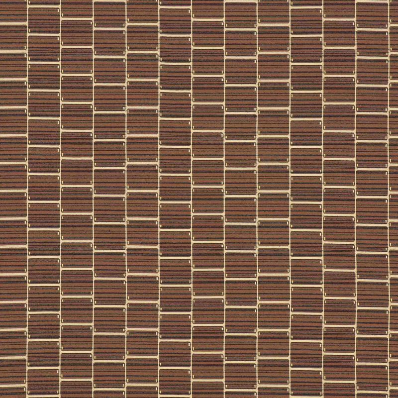 Carrel Nutmeg Woven Textured Upholstery Fabric