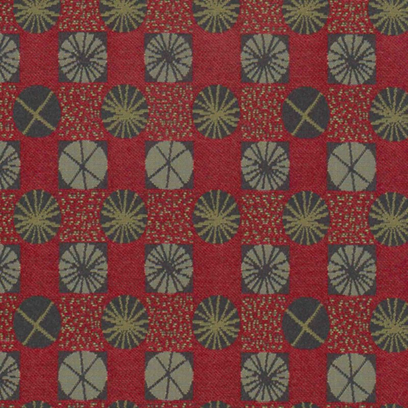Ferris Wheel Taffy Apple Woven Flat Upholstery Fabric